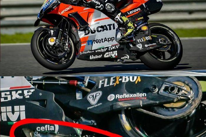 Part tambahan di motor MotoGP milik Ducati