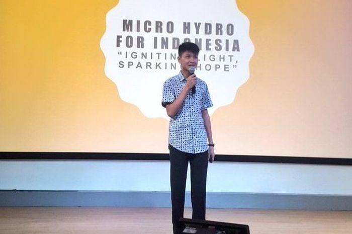 Gamma Thohir, Pelajar 15 Tahun Ciptakan Teknologi #MicrohydroID