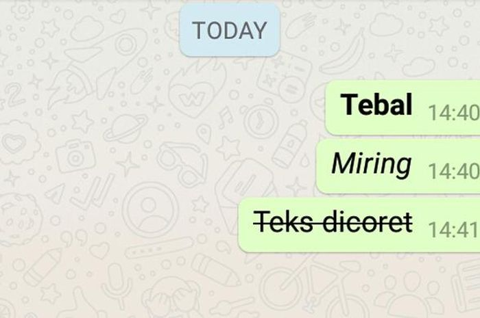 Trik modifikasi huruf untuk WhatsApp