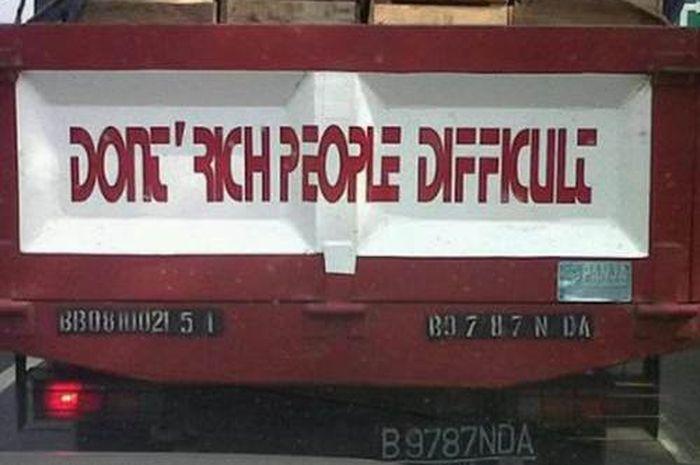 Jangan Kaya Orang Susah!