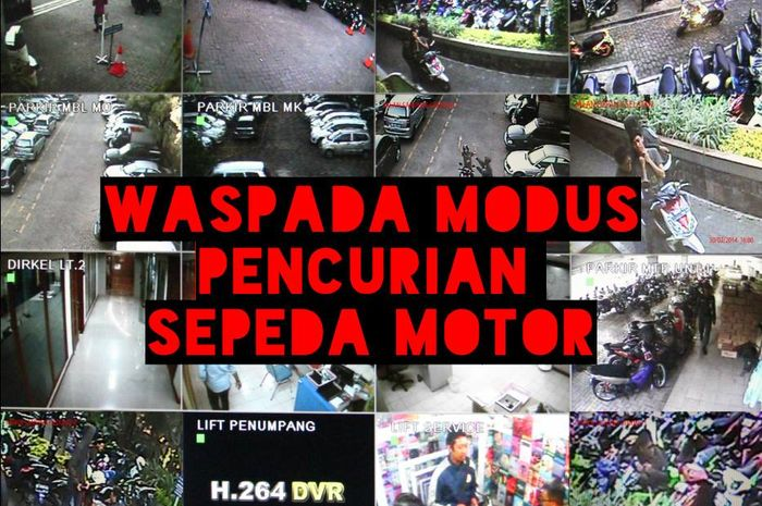 Modus pencurian sepeda motor