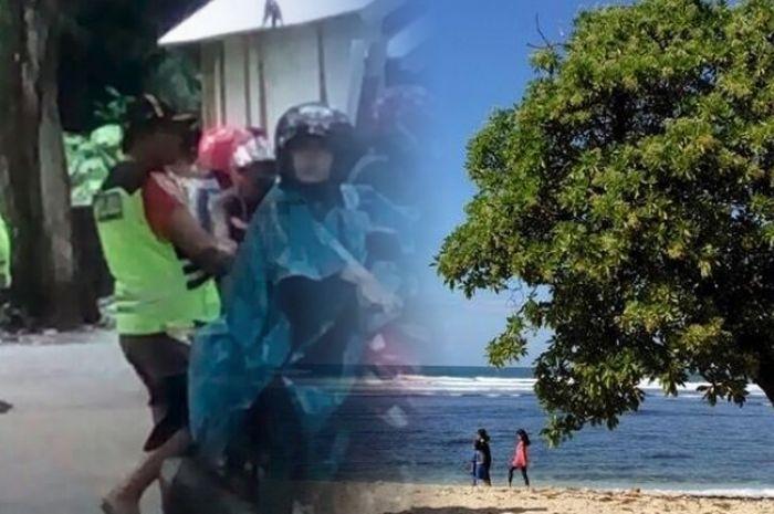 Kelakukan oknum tukang parkir di salah satu wisata pantai di Malang, bikin trauma pengunjung