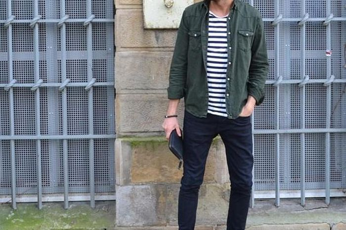 48 Koleksi Model Cowok Pake Jaket Jeans Gratis Terbaru
