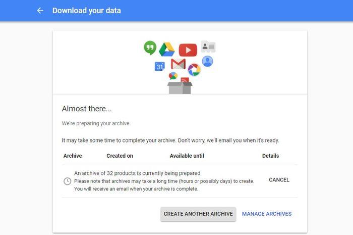 Data di Google
