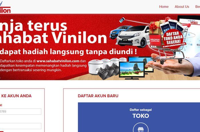 Website e-commerce Sahabat Vinilon.