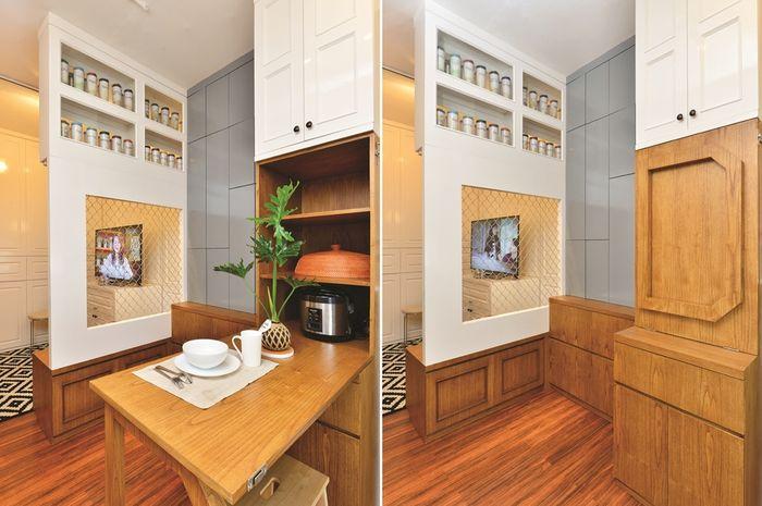 Cobain Konsep Hidden Storage Yuk! Cek Apartemen Bergaya Simpel Chic Satu Ini.