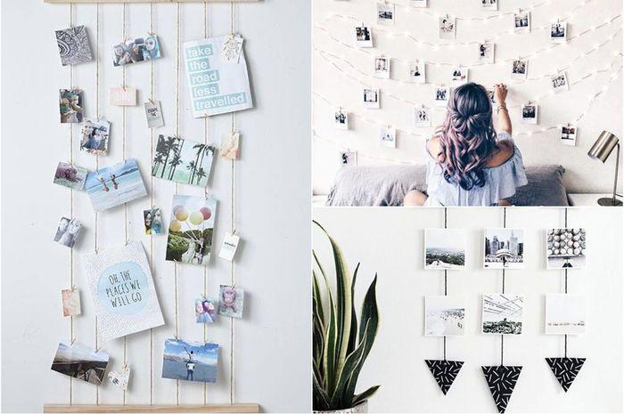 Berikut 8 cara kreatif meletakan foto polaroid di kamar tidur.
