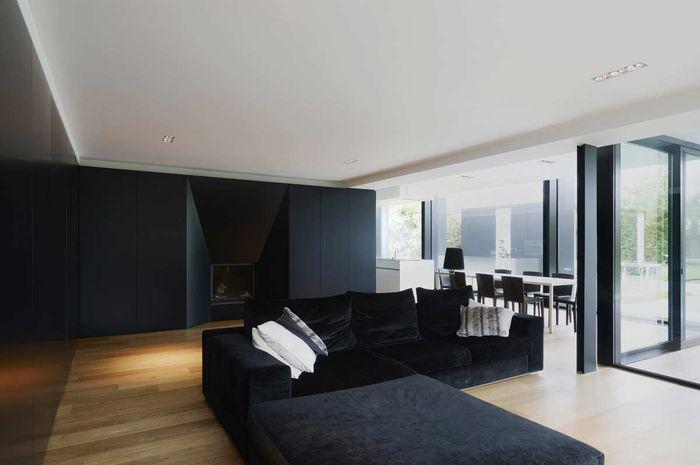10 Ide Dekorasi Ruang Tamu Dominasi Hitam yang Bikin Ruangan Makin Stylish nan Kece! Nomor  10 Kekinian Banget
