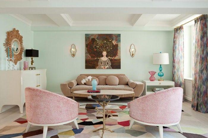Ruang Keluarga Makin Cantik Dengan Warna Warni Pastel Yang Menga