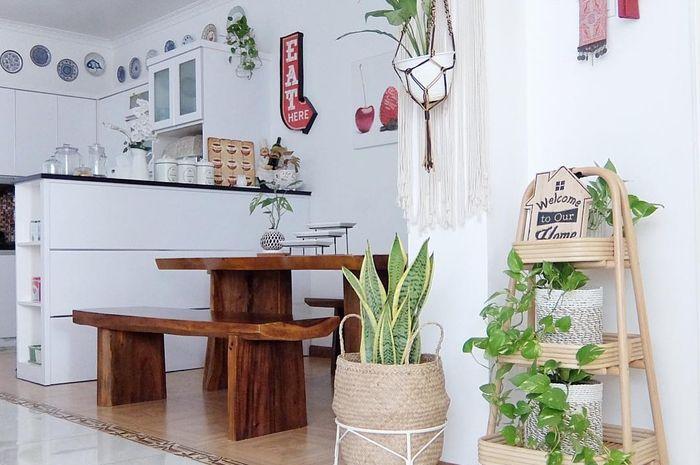 Dinding Cantik Dengan Dekorasi Piring Hias Pada Dapur Minim Milik Earlyania