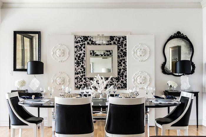 Padu Padan Hitam Dan Putih Pada Ruang Makan - iDEA