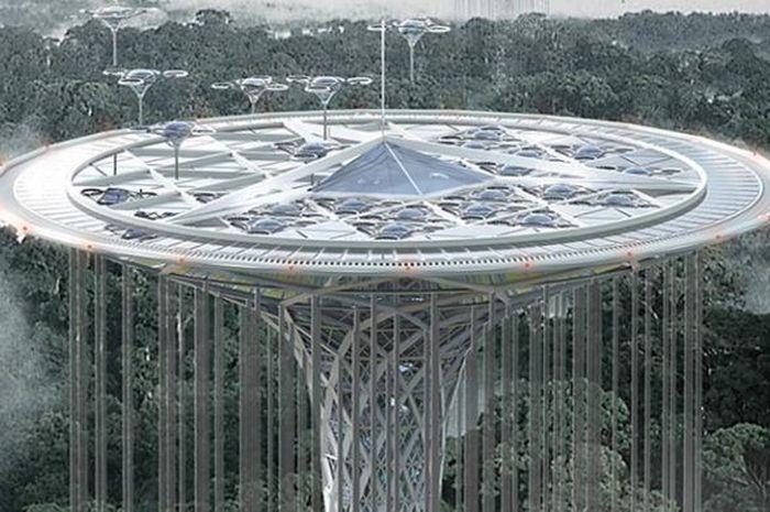 Rainforest Guardian Skycraper, Pencakar Langit yang Menjaga Hutan Hujan