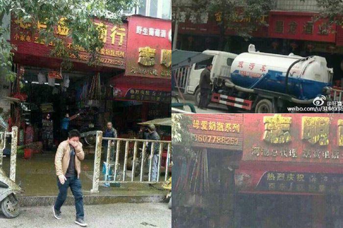 Sebuah Truk Tinja di China Meledak, Sejumlah Orang Terkena Imbasnya