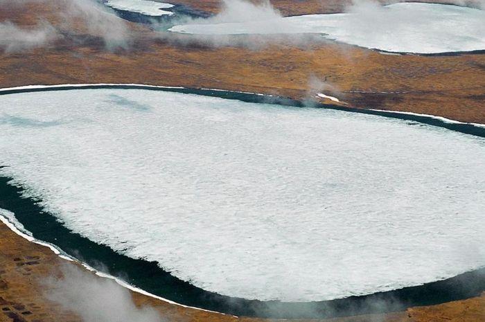 Permafrost tundra di Siberia.