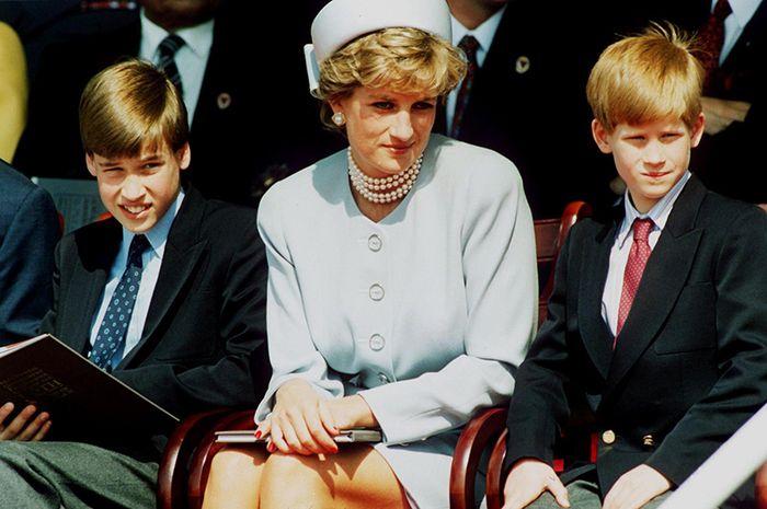Putri Diana dan kedua putra kesayangannya