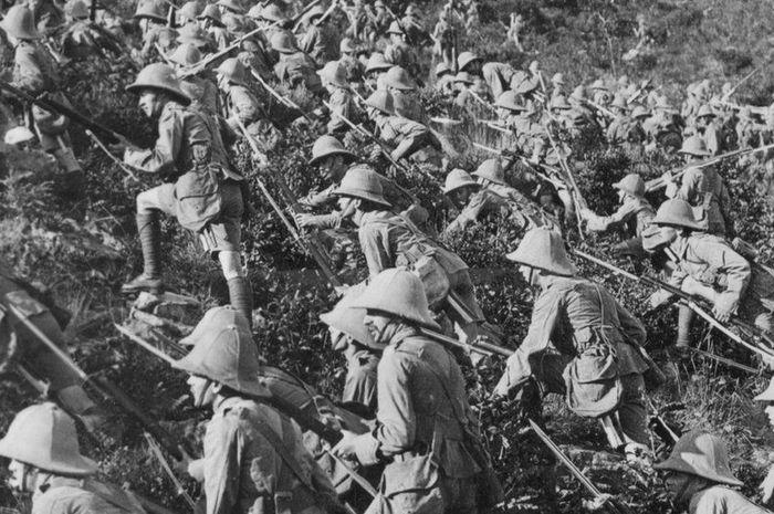 Pasukan gabungan Inggris terkurung di Gallipoli