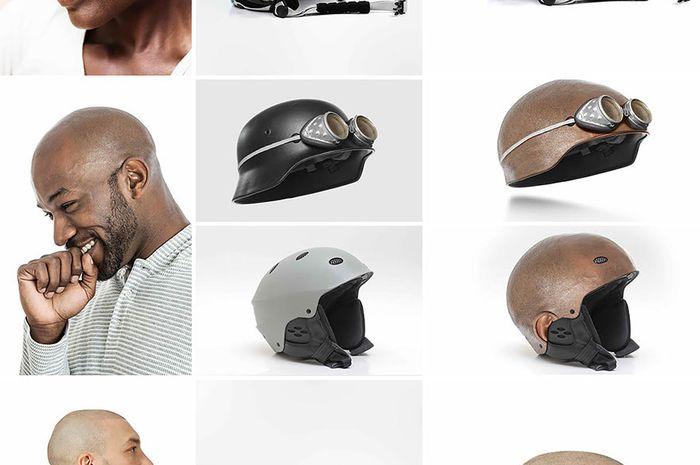 Helm berbentuk kepala manusia