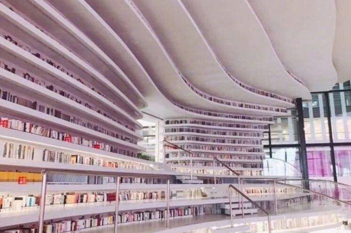Perpustakaan Area Baru Tianjin Binhai.