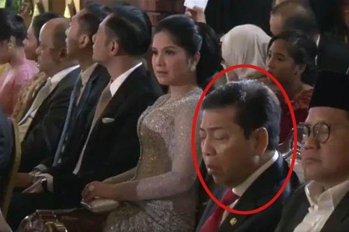 Setya Novanto tertidur