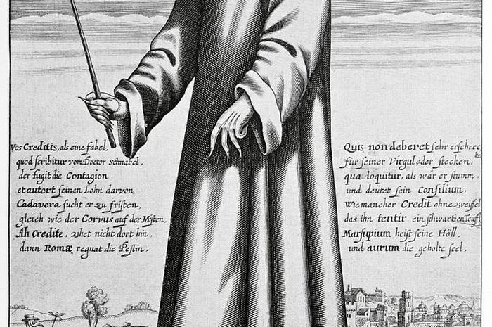 Ilustrasi dokter wabah Black Death.