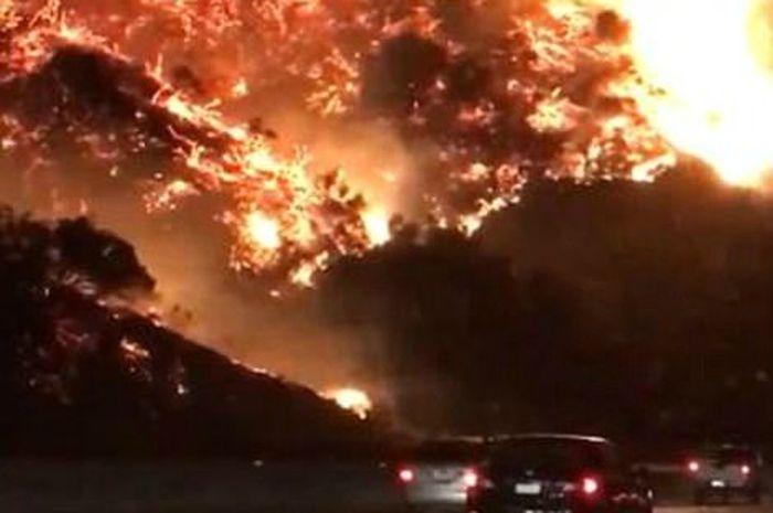 Kebakaran hutan di Los Angeles