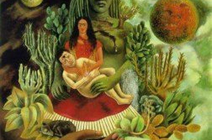 The Love Embrace of the Universe, Lukisan Seniman Meksiko Frida Kahlo