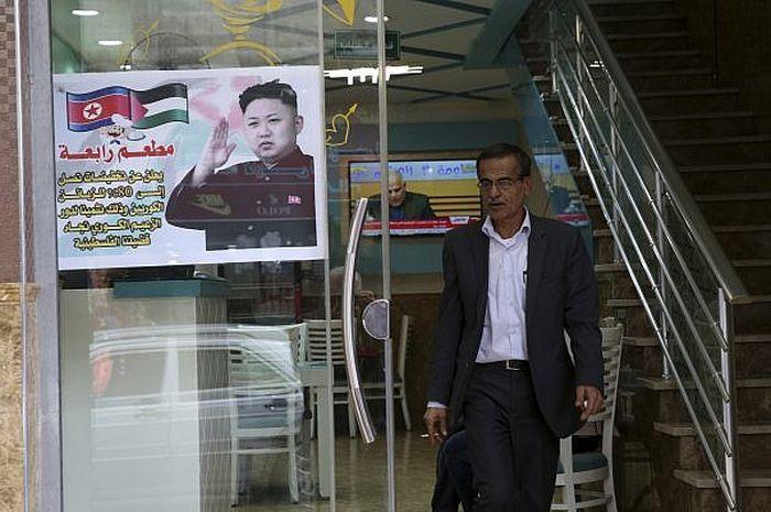 restoran di Gaza memberi diskon untuk warga korea utara
