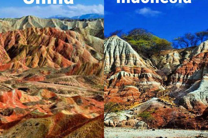 Kelebba Maja tidak kalah cantik dengan gunung pelangi di china