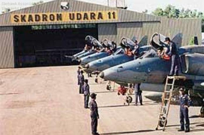 Deretan jet tempur A-4 TNI AU