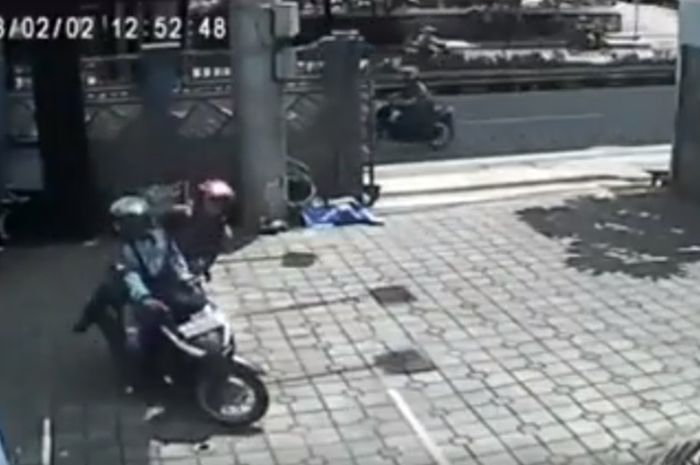 pencurian motor berkedok ojek online
