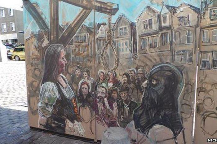 Ilustrasi hukuman gantung di Inggris