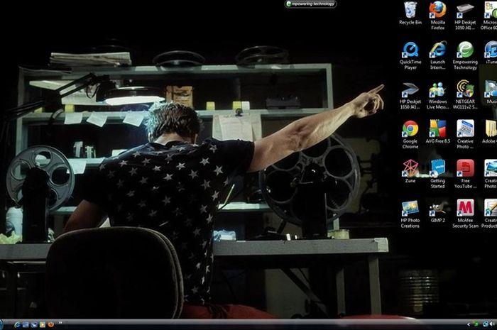 Tampilan desktop yang unik.