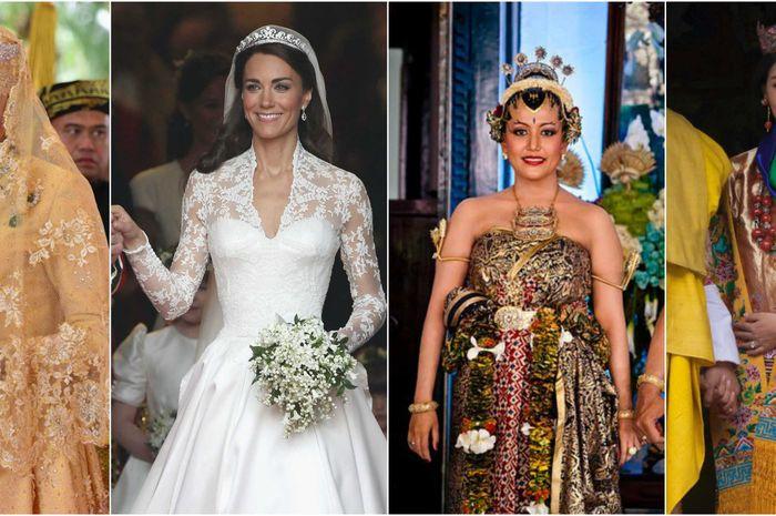gaun pernikahan putri kerajaan dari berbagai belahan dunia
