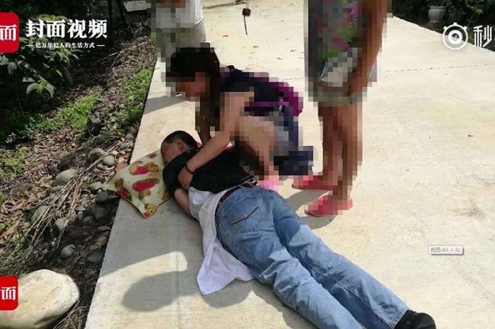 tragisnya nasib pencinta ajing ini mencoba menyelamatkan anjingnya dari pencurian