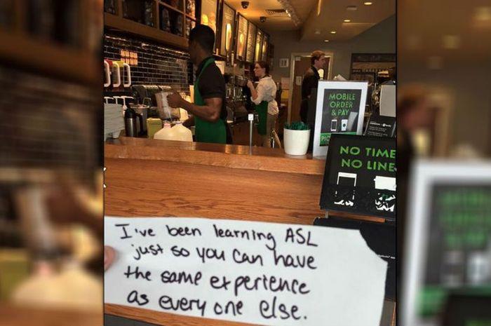 Kisah Perbuatan Baik Kasir Kedai Kopi terhadap Pelanggannya yang Tuli