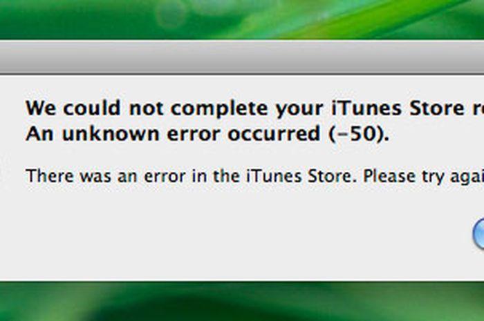 iTunes Store Error -50 dan Ethernet OSX