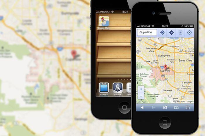Google Maps iOS 6: Menggunakan Web App Sebagai Pengganti