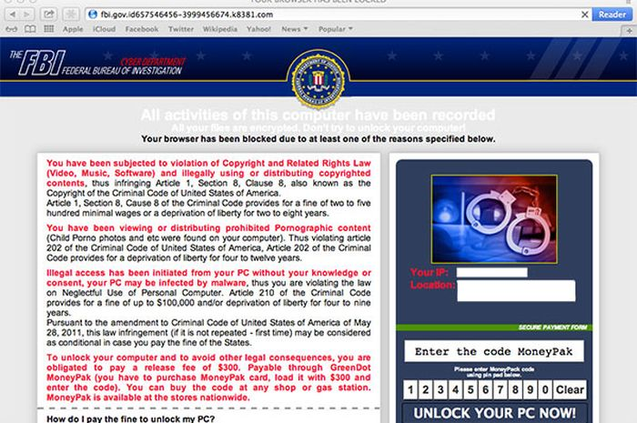 Pengguna OS X Menjadi Target FBI Ransomware Dan Cara Menghapusnya