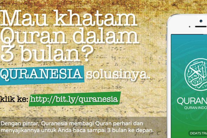 Quranesia 1.2 Hadirkan Fitur Target Khatam Al-Quran