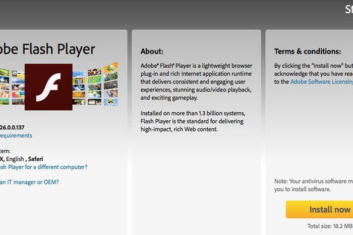 Adobe Flash Player Segera Tutup Usia di Tahun 2020