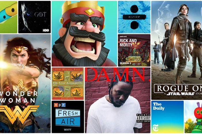 Apple Rilis Laporan Aplikasi, Musik, Film Paling Populer di 2017