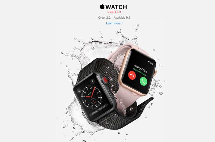 Apple Watch Series 3 Edisi Cellular Segera Dijual di Singapura dan Hong Kong