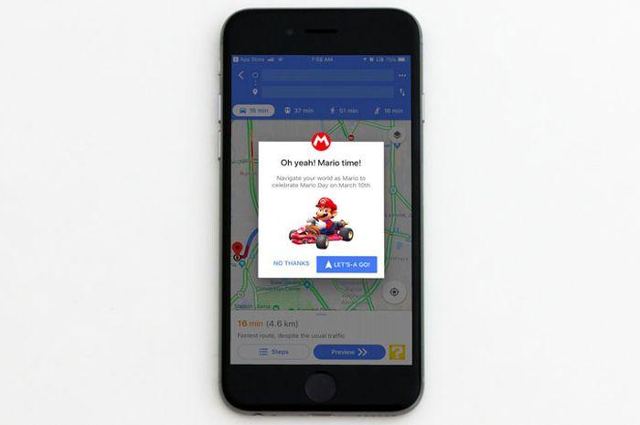 Jalan-Jalan Bersama Mario di Google Maps
