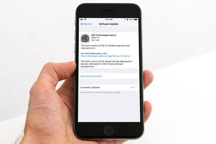 Apple Rilis iOS 12 Developer Beta 6 dan Public Beta 5