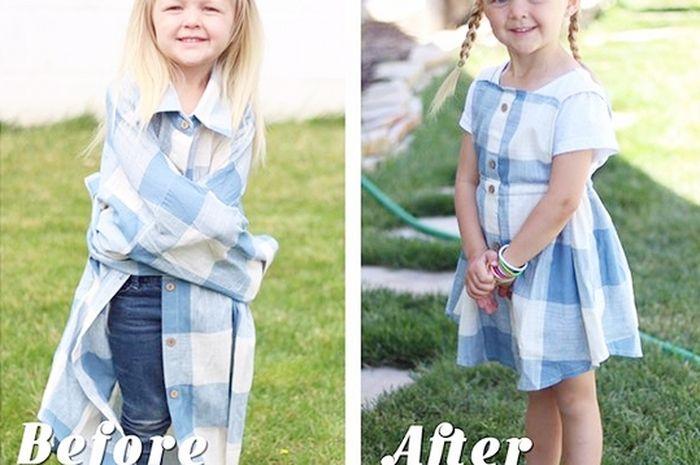 Cara Ibu Ini Sulap Baju Lama Suaminya untuk Digunakan Anak Perempuannya  Bisa Ibu Tiru 76fbc5e5b6