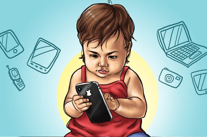 Kecanduan gadget pada anak yang berdampak pada kecerdasan