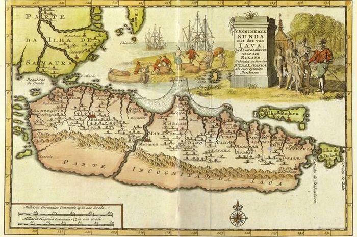 Peta Jawa abad ke-18