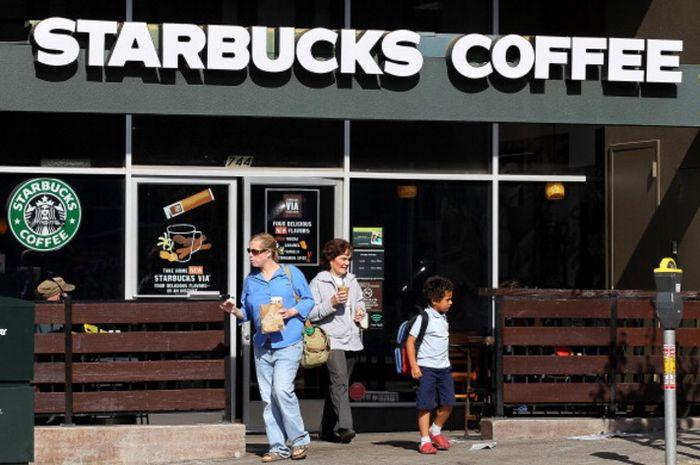 Salah satu gerai kopi Starbucks