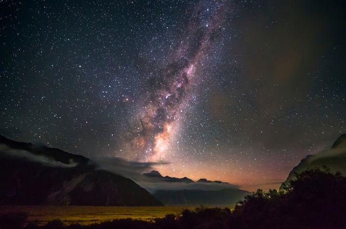 Bima Sakti dilihat dari Mount Cook National Park
