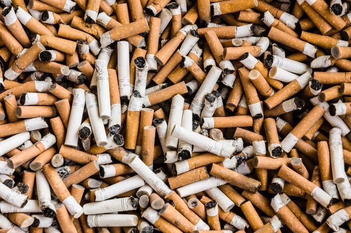 Puntung rokok.